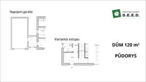 varianty - vstup a garáž