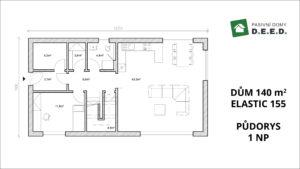 1 NP rozšíření domu 140 > 155